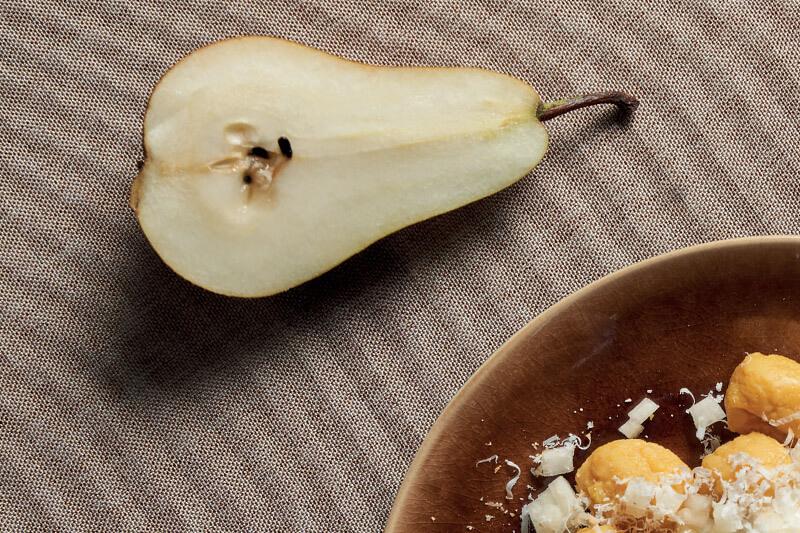 Gnocchi di zucca con pera