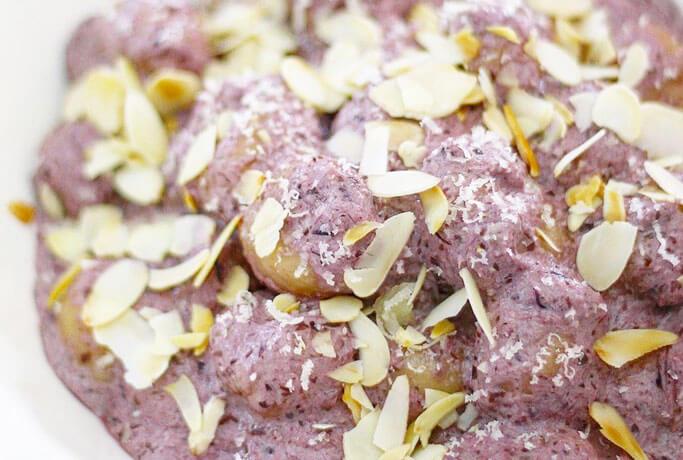 Gnocchi di patate alla crema di radicchio e ricotta